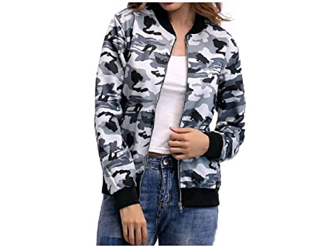 b113098088556 DressU Womens Camouflage Oversize Outdoor Army Jacket Trench Coat 1 XS