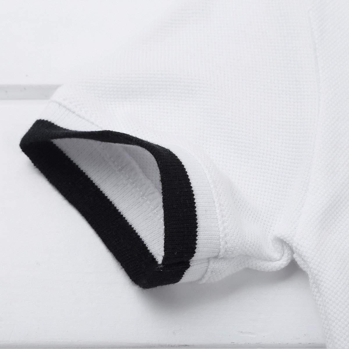 Freebily Body B/éb/é Gar/çon Filles Top Barboteuse Coton Solide Col Roul/é Shirt Unisexe B/éb/é Chemise Bodysuit Blanc Bleu Marin Grenouill/ères 6-24 Mois