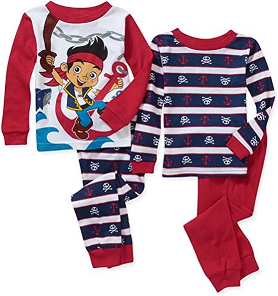 Disney Jake /& The Neverland Pirates 3 PC Shirt Shorts Pajama Set Boy Size 3T