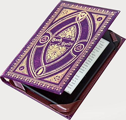 Book Cover Case for ALL 6 Amazon Kindle eReader inc 2015 Paperwhite and Touch Screen – Book of Spells Harry Potter