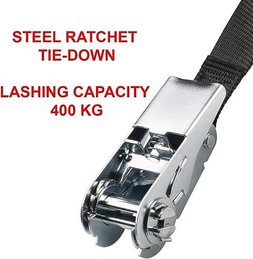 Master Lock 3223eurdat Zertifizierter Spanngurt Mit Ratsche Schwarz 2 5 M X 25 Mm Gurt Auto