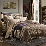 MKXI Gorgeous Paisley Bedding European Luxury Duvet Cover Set Sateen Cotton,King Set,3 Pieces