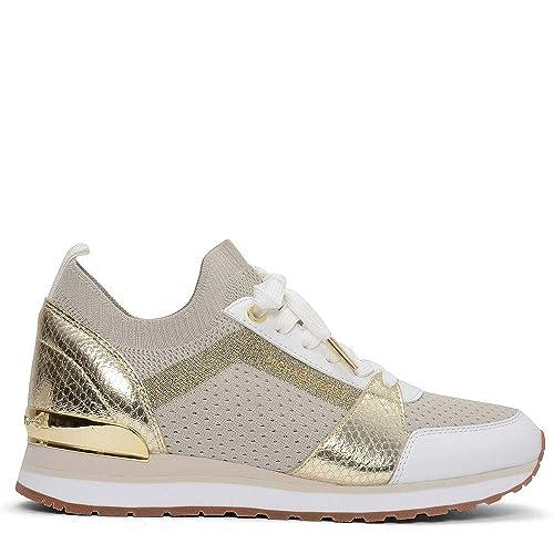 Michael Kors - Zapatillas para Mujer Marfil Blanco Crema: Amazon.es: Zapatos y complementos