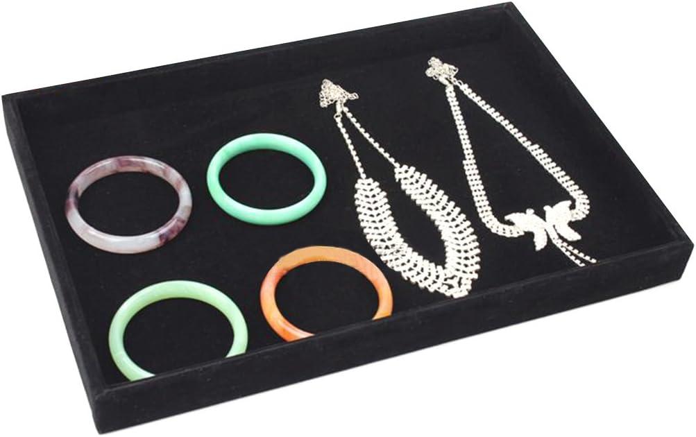 collares bandeja de almacenamiento pulseras y joyas pendientes XTYaa Caja expositora de terciopelo para joyas