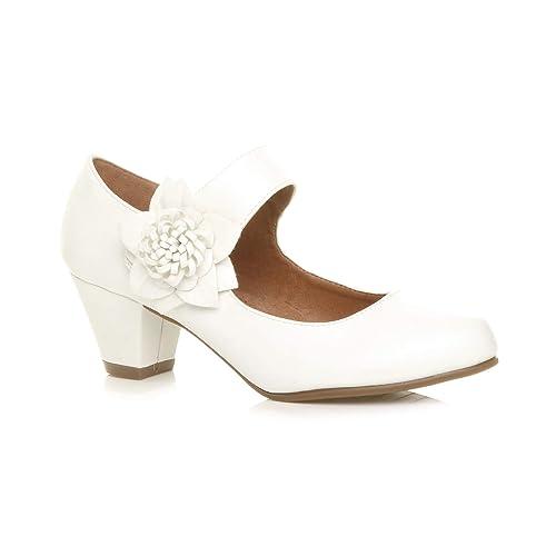 Chaussure Cuir Pointure Femmes Large Escarpin Doublé Talon Confort Babies Moyen CWxBrEeoQd