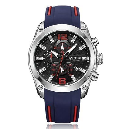 Dilwe Relojes para Hombres 3 Tipos Reloj Analógico de Cuarzo 30m a Prueba de Agua con
