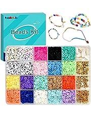 Polymeer Klei Kraal voor Kralen Set Kralen Kettingen Set voor Charm Armband Ketting Kit DIY Sieraden Maken Craft Kit Creatief Cadeau voor Volwassenen, Kinderen