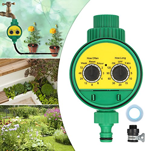 KINGSO Water Timer Single Outlet Hose Faucet Timer Outdoor Waterproof Automatic On Off Water Faucet Hose Water Timer