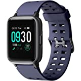 Willful Smart Watch for Android Phones Compatible iPhone Samsung IP68 Swimming Waterproof Smartwatch Sports Watch Fitness Tracker Heart Rate Monitor Digital Watch Smart Watches for Men Women Blue