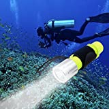 Best Waterproof Flashlights - YAOMING Flashlight XM-L T6 Bulb Professional Diving Lights,1000 Review
