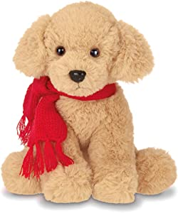 Bearington Grizwald Plush Stuffed Animal Golden Retriever Puppy Dog, 7.5 inches