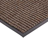 NoTrax 117 Heritage Rib Entrance Mat, for Lobbies and Indoor Entranceways, 4' Width x 8' Length x 3/8'' Thickness, Brown