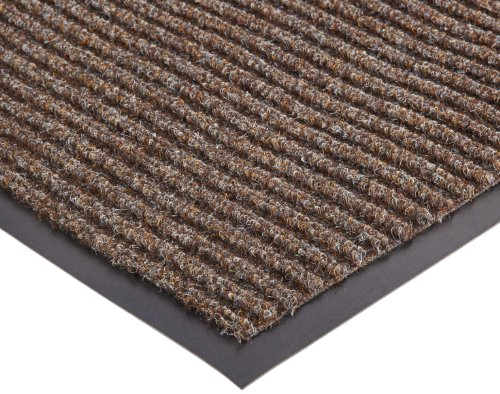 NoTrax 117 Heritage Rib Entrance Mat, for Lobbies and Indoor Entranceways, 4' Width x 8' Length x 3/8'' Thickness, Brown by NoTrax