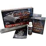 "A-MAZE-N Smoke Choice BBQ Pellets, Starter Gel Combo Pack, 12"" Oval Tube Smoker, 2lbs of Apple & Pitmaster C"