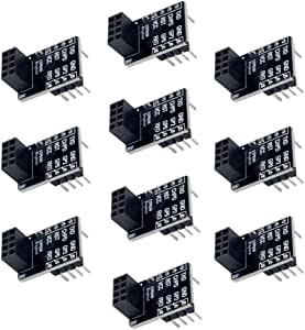ESP8266 ESP-01 ESP-01S Breakout Board Breadboard Adapter PCB Pre-Solder Pin Header for Serial WiFi Transceiver Network(Pack of 10pcs)