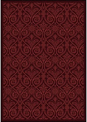 Unique Loom Medici Collection Floral Distressed Traditional Pink Area Rug 5 0 x 8 0