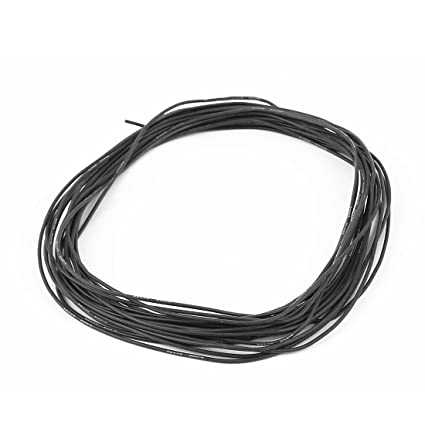10M 22AWG Eléctrico Núcleo De Cobre De Silicona Flexible Cable Negro