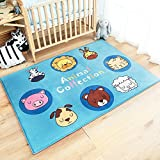 RuiHome Animal Printed Kids Baby Crawling Play Mat Nursery Rugs Soft Carpet for Toddler Bedroom Bedside Playroom Living Room - 39x59