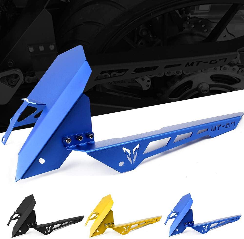 Motorrad Kettenschutz Aluminium Kettenabschirmung Cover Protector f/ür Yamaha MT07 2013-2018 FZ07 2015-2018