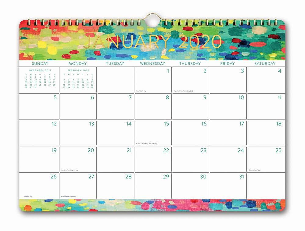 December Countdown Calendar 2020 Starting At 24 Amazon.: Orange Circle Studio 2020 Deluxe Wall Calendar