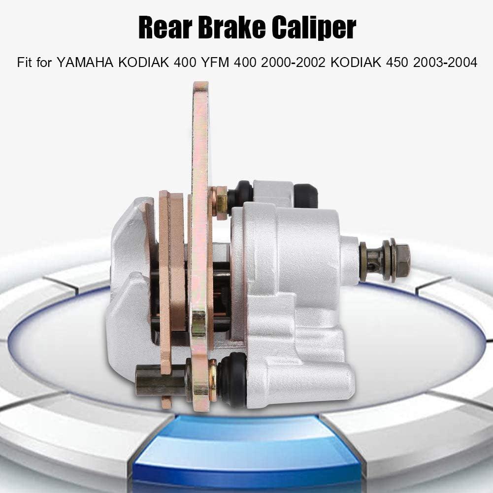 Aramox Brake Caliper Rear Brake Caliper Assembly for YAMAHA KODIAK 400 YFM 400 2000-2002 KODIAK 450 2003-2004 Motorcycle ATV