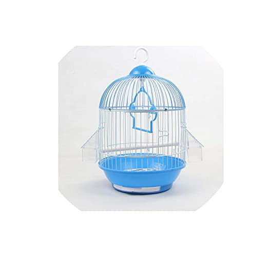 mebake bird house Pequeña Jaula de pájaros Redonda de Piel de ...