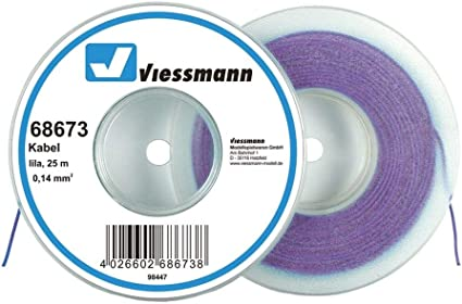 Viessmann 68673 Kabelring Litze 25m 0 14 Mm Lila Spielzeug