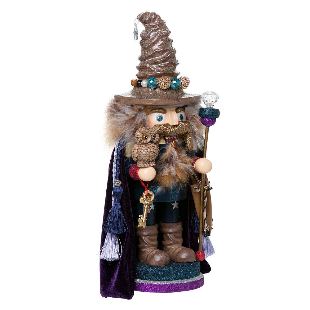 Kurt Adler 15'' Hollywood Wizard Nutcracker with Owl