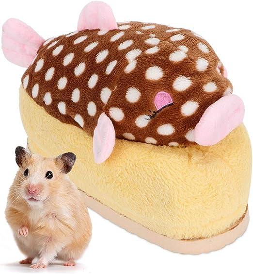Hogar Cama de hámster para Dormir cálido Pequeños Animales Nido de Jaula de algodón para Cama de Dormir para Mascotas Juguete de Rata Juguete de hámster Cueva Cueva Nido Hámster: Amazon.es: Productos