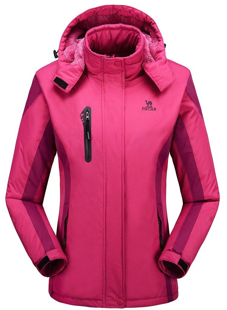Women's Alternative Outerwear Coats Snowboarding Fleece Lined Skiing Jackets Rose Red US Medium/ Asian 2XL