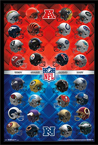 Trends International Wall Poster NFL Helmets 2017, 22.375 x 34