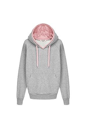 15ee2e7c379 Suvotimo Women Casual Winter Plue Size Linen Pullover Hooded Thick Fleece  Sweatshirt Tops Grey S