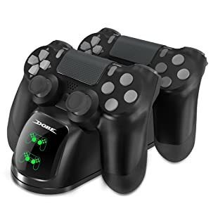 Dobe PS4 Controller Charger, Dual Shock 4 Controller Charging Docking Station with LED Light Indicators Compatible with PS4/PS4 Slim/PS4 Pro Controller