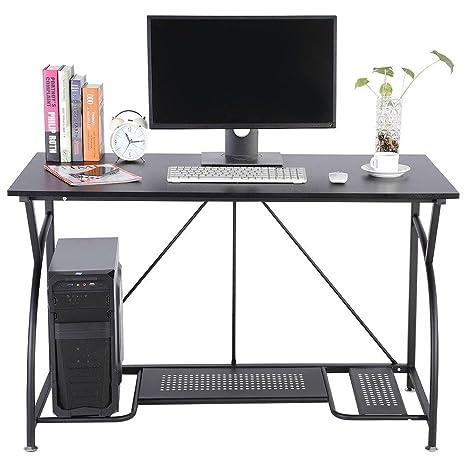 Mesa de ordenador, escritorio con ranuras de trabajo: mesa de ...