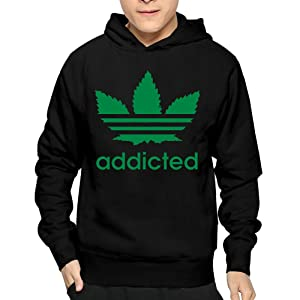Men's Addicted Hoodie Sweatshirt Funny Pullover
