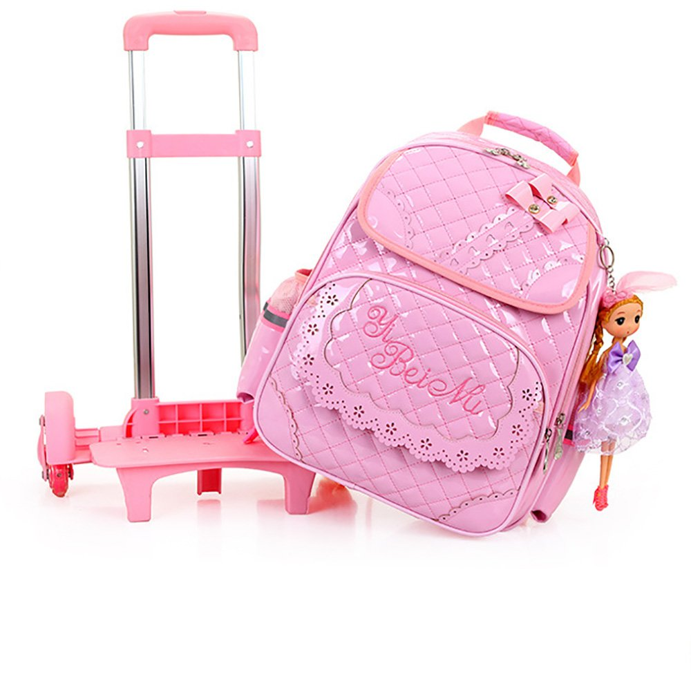 comprar nuevo barato MAXYOYO MAXYOYO MAXYOYO Juego de bolsos escolares marrón rosa 6 wheels  100% garantía genuina de contador