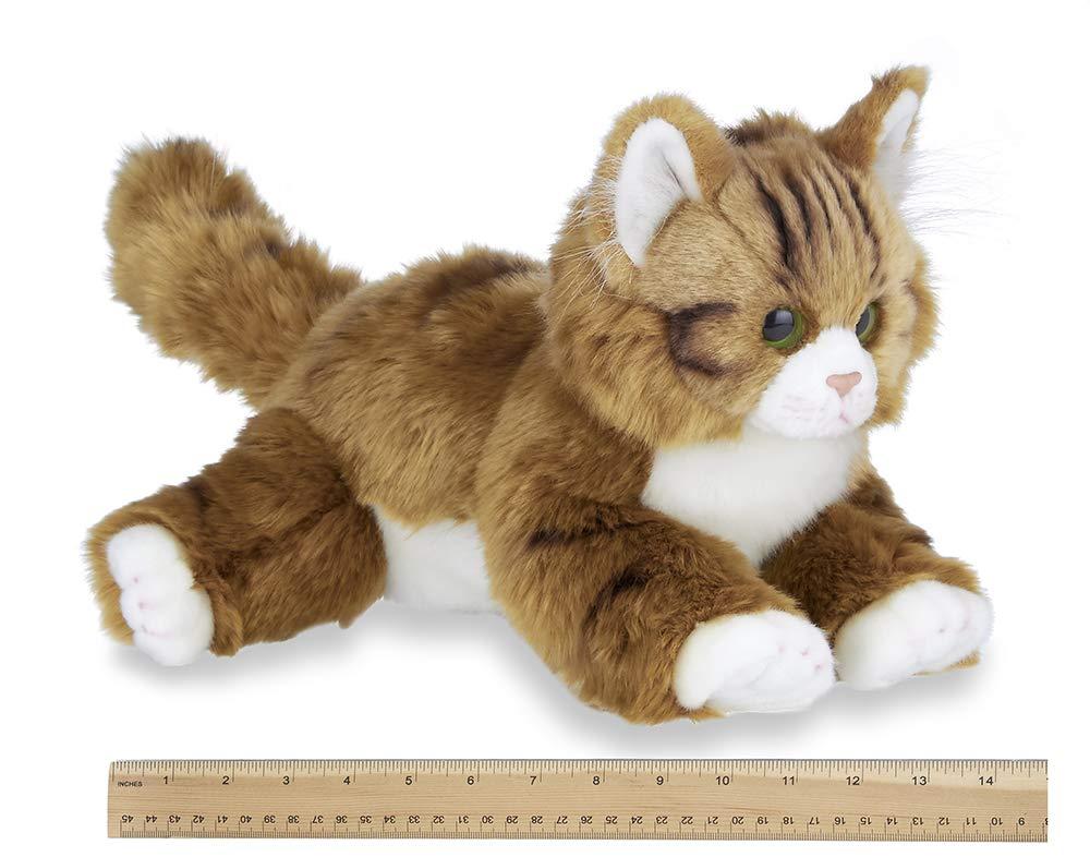 Bearington Collection Manny Plush Stuffed Animal Orange Tabby Maine Coon Cat Kitten 15 inches