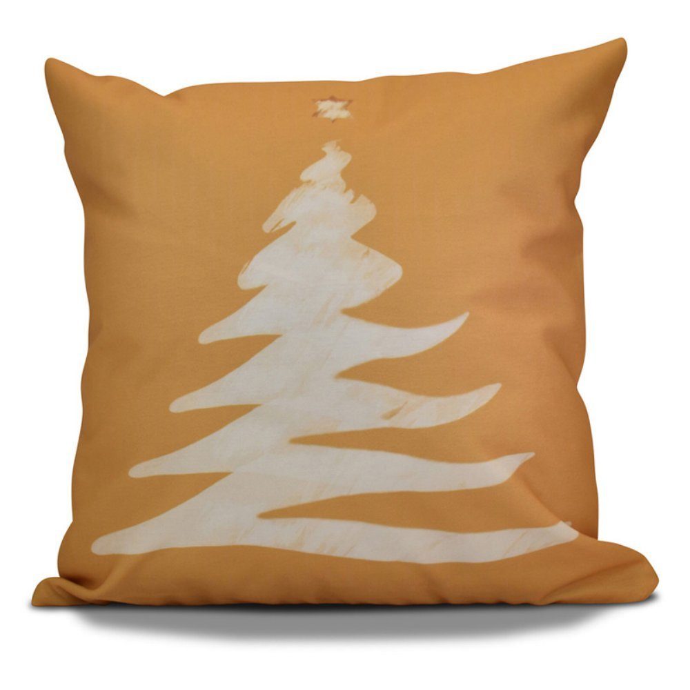 E by design O5PHGN677BL14WH1-16 Printed Outdoor Pillow