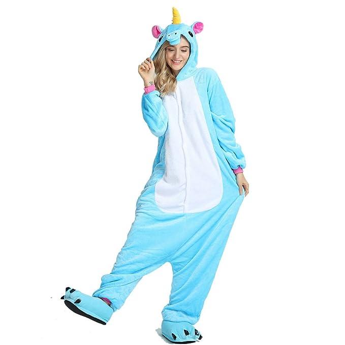 Crazy Lin Unisexo Adultos Unicorn pegasus cartoon Animal Cosplay Pijamas ,Disfraces, Ropa de dormir