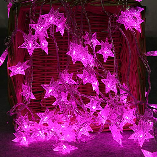 Led String Fairy Lights, Elevin(TM) 2M 10 LED Crystal Clear Star Fairy String Light Wedding Party Outdoor Decor Lamp (Purple) ()