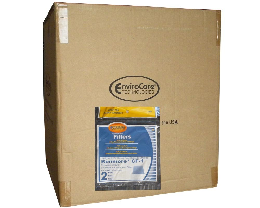 1/2 Case (50 pkgs) Kenmore CF1 Vacuum Cleaner Foam Filters Set Whispertone Panasonic Sears Progressive by EnviroCare
