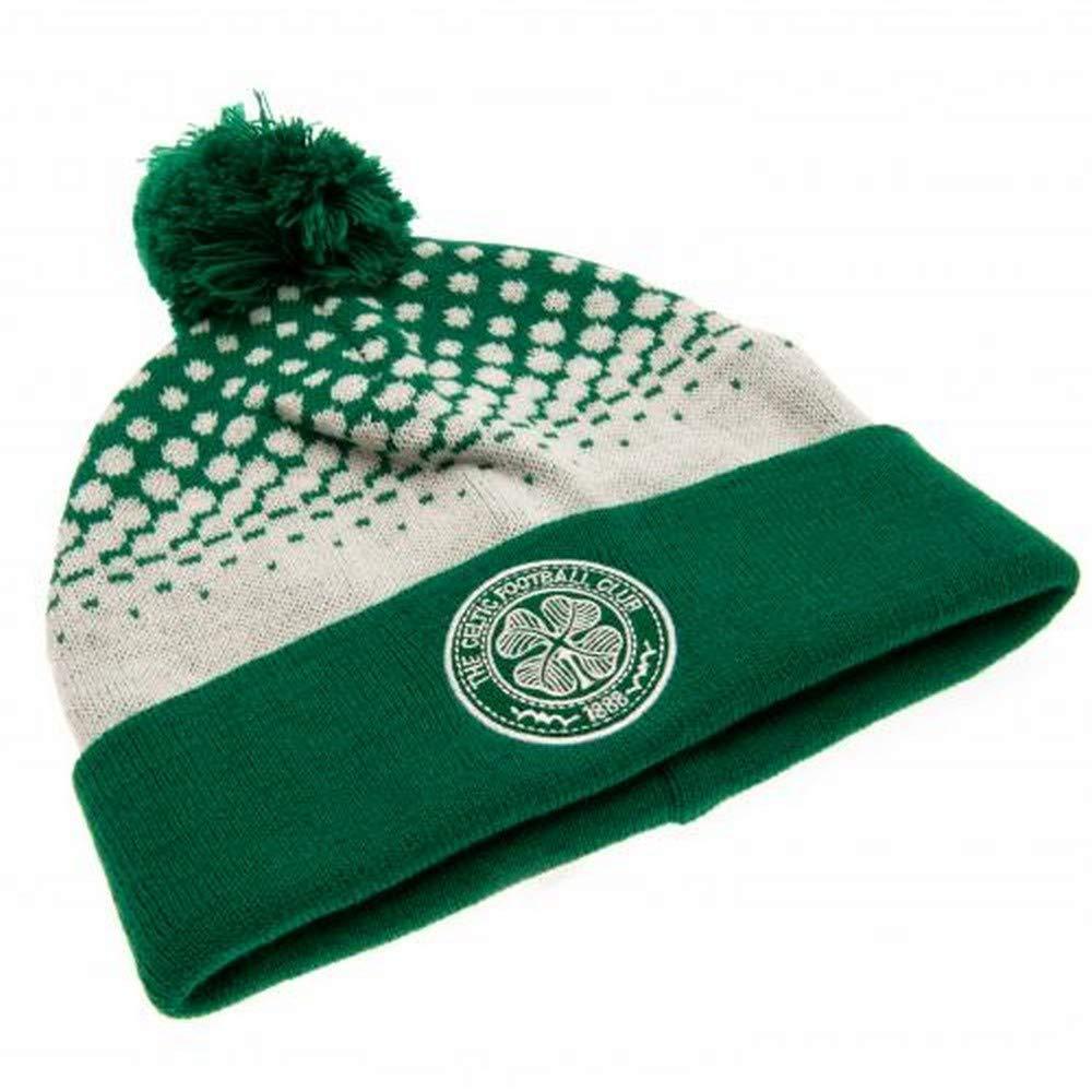 Celtic FC Blanco Verde Glasgow apareció Sombrero Hecho Punto ...
