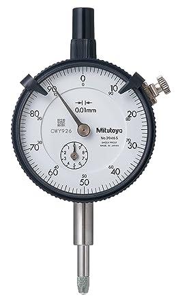 MITUTOYO 2046SB - Reloj contador DIN 878, rango de medición de 10 mm, lectura