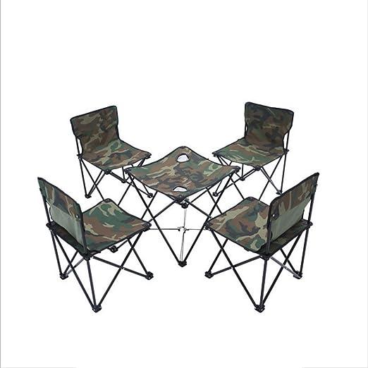 Gghy-camping tables Juego de Mesa y Silla Plegables para ...