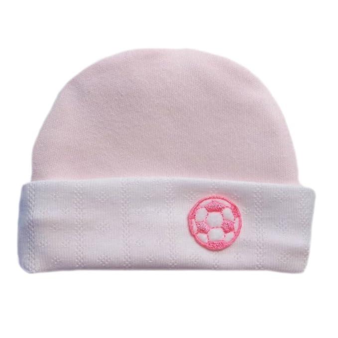 da142be38ff Amazon.com  Jacqui s Baby Girls  Neon Light Pink Soccer Ball Hat ...