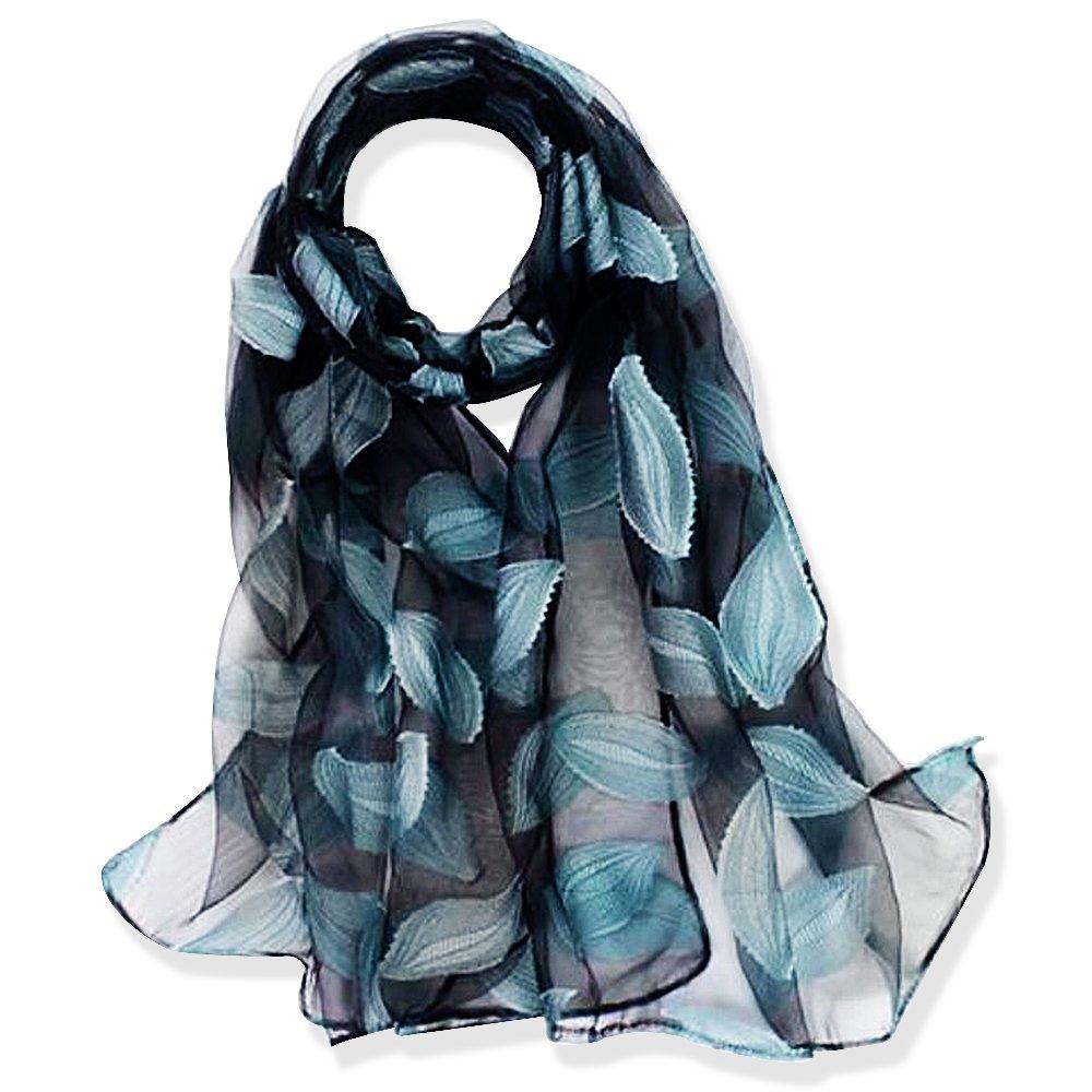 YFZYT Donna Moda Organza Morbida sciarpa Scialle Collo Avvolto Foulard, Anti-UV Sciarpa di Seta di Lusso di Colore Solido Impacca Scialle