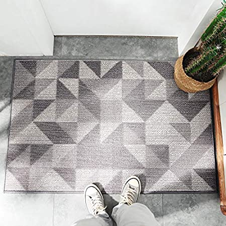 """Machine Washable Soft Entryway rug to scrap Mud,Dirt,Snow,Grass,Water from Shoes Dogs /& Cats! Square Glorifiv Designer Stylish Outdoor Indoor Welcome Fiber Front Door Mat 20/""""x32/"""" with Non Slip Design Base"""