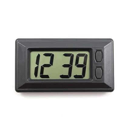 1 pc Digital LCD Horloge avec Calendrier pour Voiture Panneau de ...