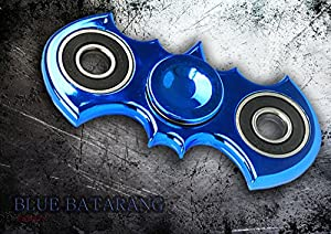 Zip Spinners- Fidget Spinner Batman Toy with Ultra Speed Deep Groove Bearings- Autism Toys Best Boredom Reducer Stress Toy Hand Spinner Fidget Toy for Kids & Adults (Blue- Batarang) at Gotham City Store