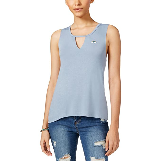 c518105b67a931 Image Unavailable. Image not available for. Color  Pretty Rebellious  Rebellious One Juniors  Charm Tank Top (Dusty Denim Dark Blue